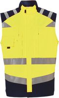 ROFA-Warn-Schutz, Arbeits-Sicherheits-Berufs-Weste, leuchtgelb-marine