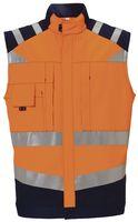 ROFA-Warn-Schutz, Arbeits-Sicherheits-Berufs-Weste, Newline, ca. 290 g/m², leuchtorange-marine