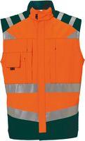 ROFA-Warn-Schutz, Arbeits-Sicherheits-Berufs-Weste, leuchtorange-grün