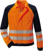 ROFA-PSA-Bekleidung, Warn-Schutz-Arbeits-Berufs-Jacke, DUO-COLOR 167, leuchtorange/marine