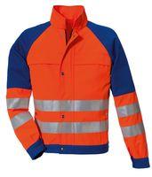 ROFA-PSA-Bekleidung, Warn-Schutz-Arbeits-Berufs-Jacke, DUO-COLOR 167, leuchtorange/kornblau