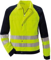 ROFA-PSA-Bekleidung, Warn-Schutz-Arbeits-Berufs-Jacke, DUO-COLOR 167, leuchtgelb/marine