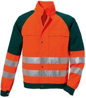 ROFA-PSA-Bekleidung, Warn-Schutz-Arbeits-Berufs-Jacke, DUO-COLOR 167, leuchtorange/grün