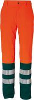 ROFA-PSA-Bekleidung, Warn-Schutz-Arbeits-Berufs-Bund-Hose DUO-COLOR 169, leuchtorange/grün