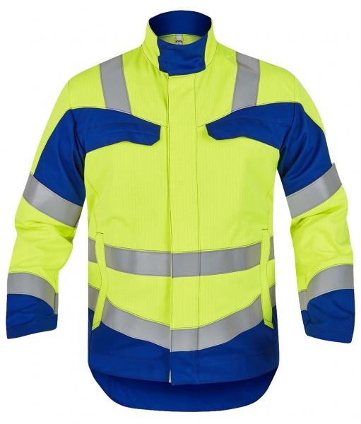 ROFA-Warnschutz-Jacke, Multi 7, leuchtgelb/kornblau