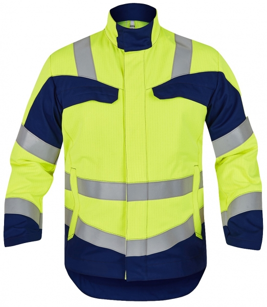 ROFA-Warnschutz-Jacke, Multi 7, leuchtgelb/marine