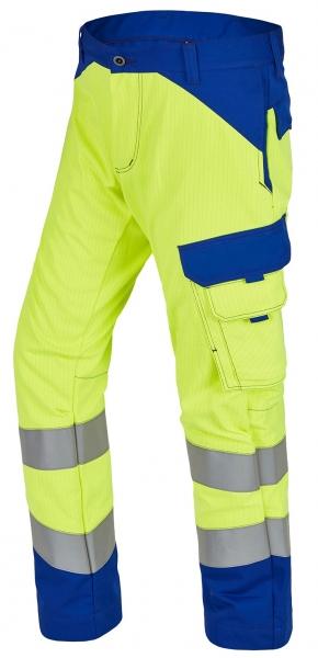 ROFA-Warnschutz-Bundhose, Multi 7, leuchtgelb/kornblau