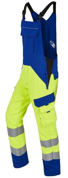 ROFA-Warnschutz-Latzhose, Multi 7, leuchtgelb/kornblau