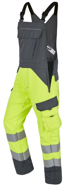 ROFA-Warnschutz-Latzhose, Multi 7, leuchtgelb/grau