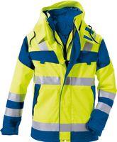ROFA-Warn-Schutz-Arbeits-Berufs-Parka Multi 9, leuchtgelb-kornblau