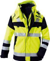 ROFA-Warn-Schutz-Arbeits-Berufs-Parka Multi 9, leuchtgelb-marine