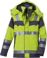 ROFA-Warn-Schutz-Arbeits-Berufs-Parka Multi 9, leuchtgelb-grau