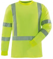 ROFA-Warn-Schutz-T-Shirt, langarm, ca. 185 g/m², leuchtgelb