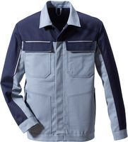 ROFA-Schweißer-Jacke, Blouson-Arbeits-Schutz-Berufs-Jacke, Trend Image 1524, grau-marine