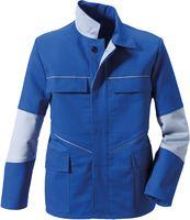 ROFA-Schweißer-Arbeits-Schutz-Berufs-Jacke, Image 1198 - doppellagig, kornblau/hellgrau