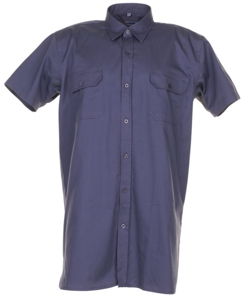 PLANAM-Twill-Köper-Arbeits-Berufs-Hemd, Viertelarm, 200 g/m², grau