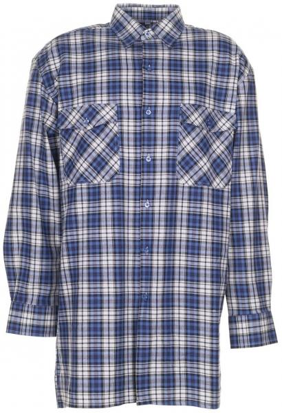 PLANAM-Flanell-Arbeits-Berufs-Hemd, 2001, 160 g/m², blau