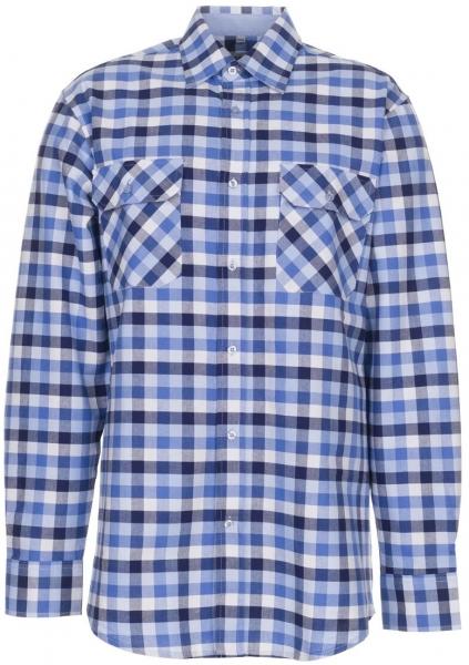 PLANAM-Country-Arbeits-Berufs-Hemd, 1/1 Arm, 160 g/m², blau kariert