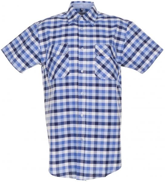 PLANAM-Country-Arbeits-Berufs-Hemd, 1/4 Arm, 160 g/m², blau kariert