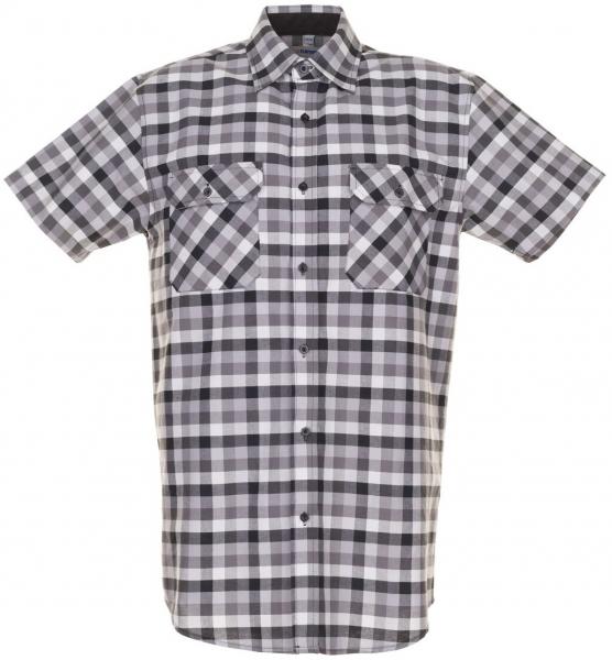 PLANAM-Country-Arbeits-Berufs-Hemd, 1/4 Arm, 160 g/m², schwarz kariert