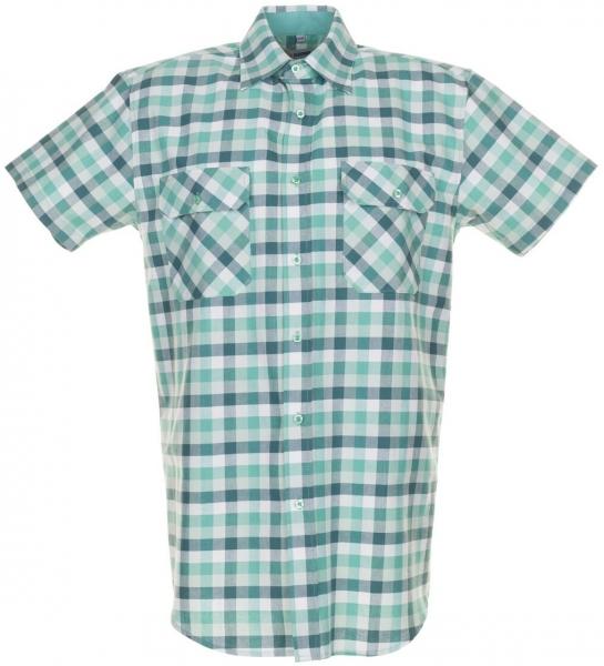 PLANAM-Country-Arbeits-Berufs-Hemd, 1/4 Arm, 160 g/m², grün kariert