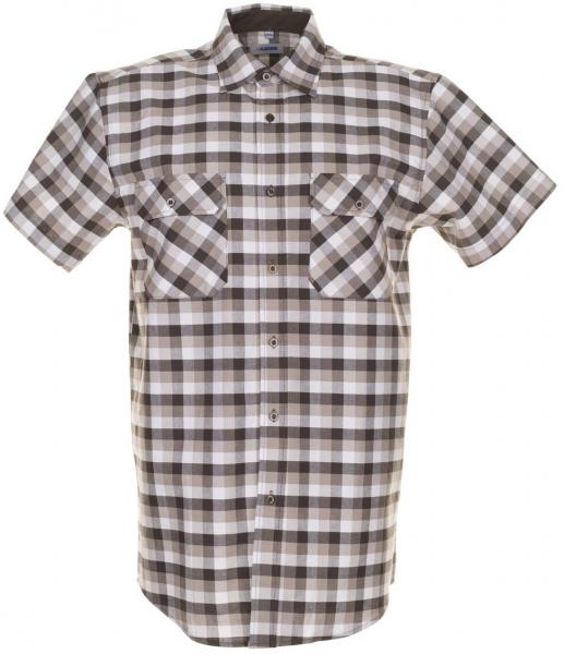 PLANAM-Country-Arbeits-Berufs-Hemd, 1/4 Arm, 160 g/m², stone kariert