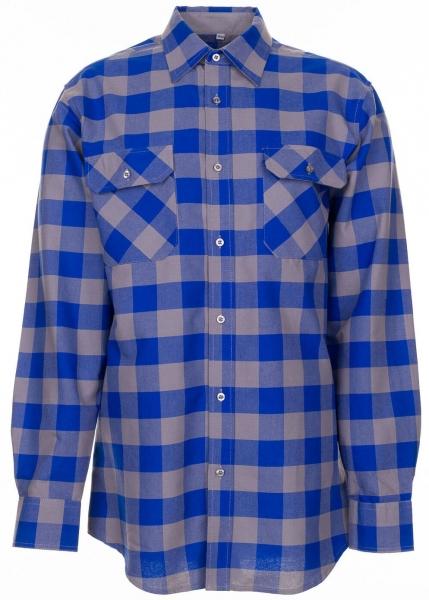 PLANAM-Square-Arbeits-Berufs-Hemd, 160 g/m², kornblau/zink