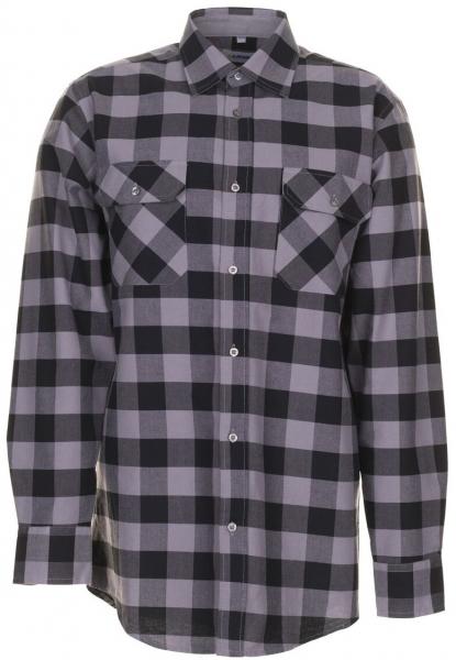 PLANAM-Square-Arbeits-Berufs-Hemd, 160 g/m², schwarz/zink