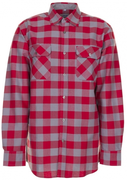 PLANAM-Square-Arbeits-Berufs-Hemd, 160 g/m², rot/zink