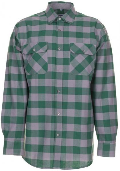 PLANAM-Square-Arbeits-Berufs-Hemd, 160 g/m², grün/zink