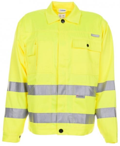 PLANAM Warn-Schutz-Arbeits-Berufs-Bund-Jacke, Warnschutz-Bekleidung, MG 290, uni gelb