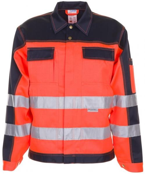 PLANAM Warn-Schutz-Arbeits-Berufs-Bund-Jacke kontrast, Warnschutz-Bekleidung, MG 290, orange/