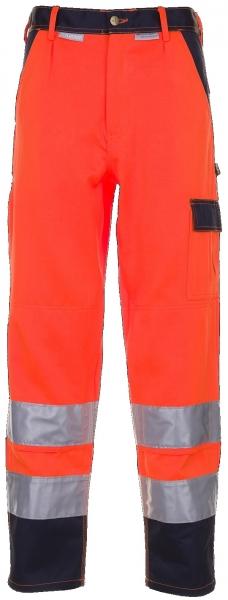PLANAM Arbeits-Berufs-Bund-Hose kontrast, Warn-Schutz-Bekleidung, MG 290, orange/m