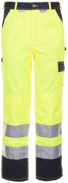 PLANAM Arbeits-Berufs-Bund-Hose kontrast, Warn-Schutz-Bekleidung, MG 290, gelb/mar