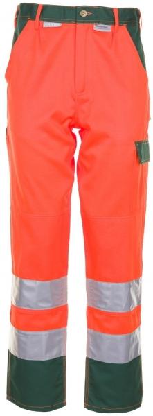 PLANAM Arbeits-Berufs-Bund-Hose kontrast, Warn-Schutz-Bekleidung, MG 290, orange/g