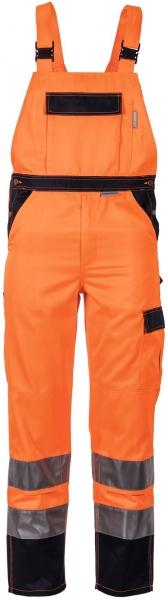 PLANAM Arbeits-Berufs-Latz-Hose kontrast, Warn-Schutz-Bekleidung orange/marine