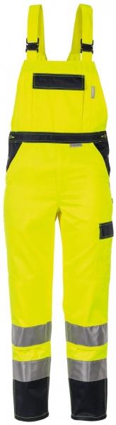 PLANAM Arbeits-Berufs-Latz-Hose kontrast, Warn-Schutz-Bekleidung gelb/marine