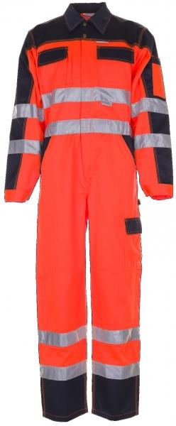 PLANAM Warn-Schutz-/Arbeits-Berufs-Overall-Rallyekombi kontrast, Schutz-Bekleidung, orange/marine