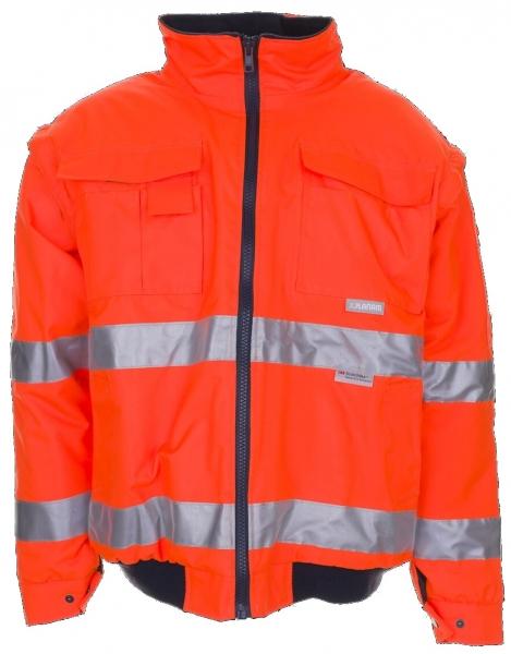 PLANAM Piloten-Arbeits-Berufs-Jacke, uni, Warn-Wetter-Schutz-Bekleidung, orange