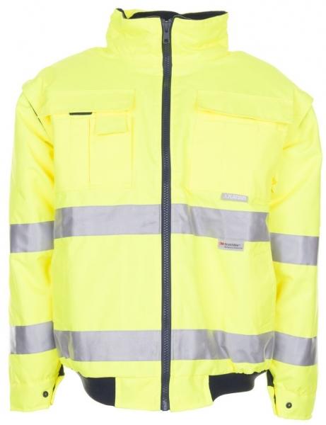 PLANAM Piloten-Arbeits-Berufs-Jacke, uni, Warn-Wetter-Schutz-Bekleidung, gelb