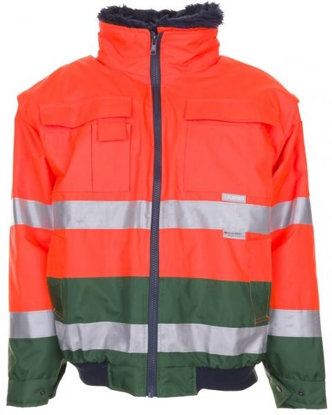 PLANAM Warn-Schutz-Comfort-Arbeits-Berufs-Jacke kontrast, Wetterschutz-Bekleidung orange/