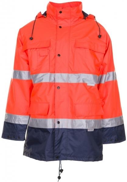 PLANAM Warn-Schutz-Arbeits-Berufs-Parka kontrast Wetterschutz-Bekleidung oran