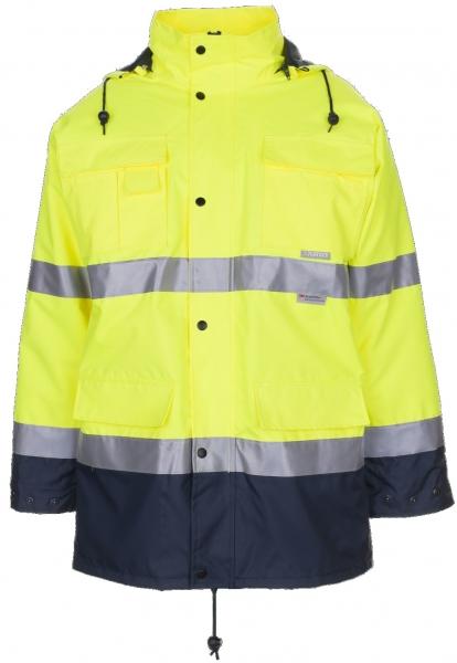 PLANAM Warn-Schutz-Arbeits-Berufs-Parka kontrast, Wetterschutz-Bekleidung, gelb