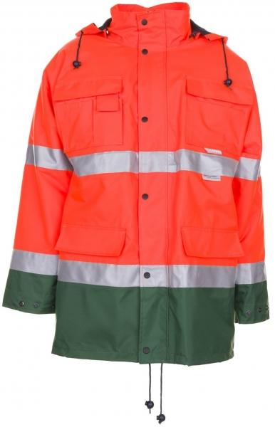 PLANAM Warn-Schutz-Arbeits-Berufs-Parka kontrast, Wetterschutz-Bekleidung, orange