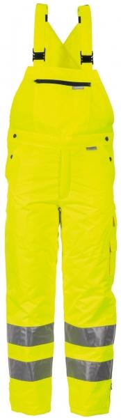 PLANAM Winter-Arbeits-Berufs-Latz-Hose uni, Warn-Wetterschutz-Bekleidung gelb