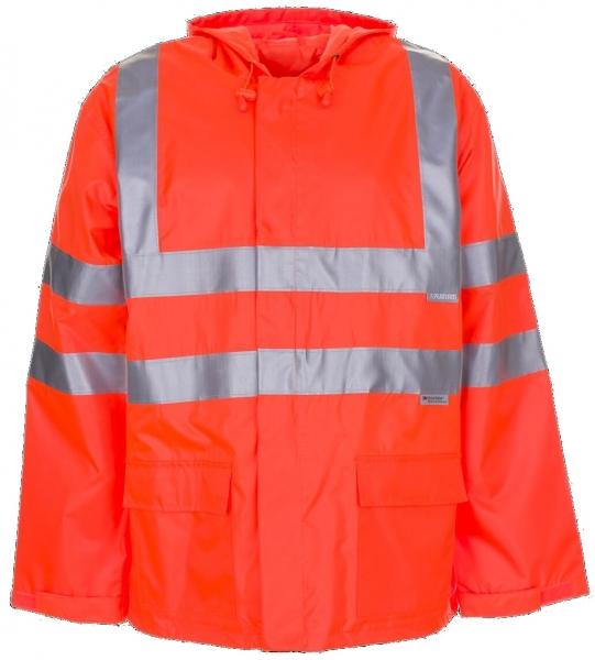 PLANAM Warn-Schutz-Regen-Arbeits-Berufs-Jacke uni, Wetterschutz-Bekleidung orange