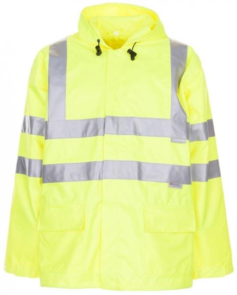 PLANAM Warn-Schutz-Regen-Arbeits-Berufs-Jacke uni, Warn-Wetterschutz-Bekleidung gelb