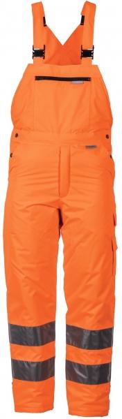 PLANAM Winter-Arbeits-Berufs-Latz-Hose uni, Warn-Wetter-Schutz-Bekleidung orange