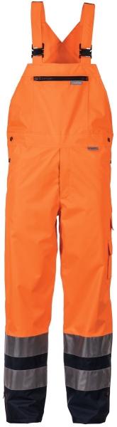 PLANAM Regen-Arbeits-Berufs-Latz-Hose kontrast, Warn-Wetter-Schutz-Bekleidung orange