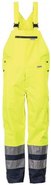 PLANAM Regen-Arbeits-Berufs-Latz-Hose kontrast, Warn-Wetter-Schutz-Bekleidung, gelb/marine